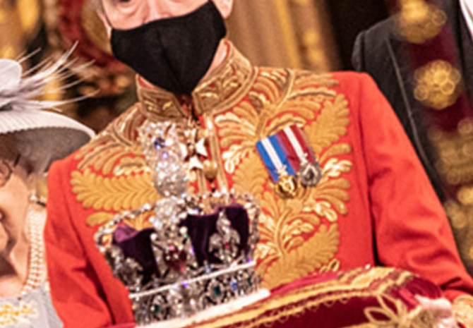 The Elizabethan queen departed from westminster, with carlo and camilla at her side